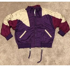 80s Vintage Athletic Works Nylon Jacket Womens L